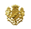 Coat of Arms Brass Plated Jewelry Pin Brooch