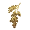 Gold Tone Metal Oak Leaf & Acorn Jewelry Findings