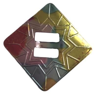 Square Sunburst Metal Western Concho Slide