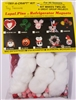 Santa Claus Christmas Pin or Magnet Craft Kit