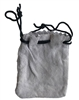 "3"" Genuine Suede Leather Drawstring Jewelry Pouch"