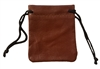 "3"" Genuine Leather Drawstring Jewelry Pouch"