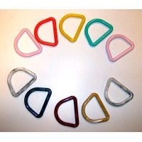 "100ct 3"" Plastic D-Rings - Assorted Colors"