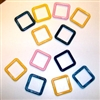 "100ct 3"" Plastic Square-Rings - Assorted Colors"