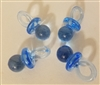Medium Plastic Acrylic Miniature Pacifiers, 4 ct bag