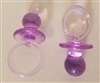 Large Plastic Acrylic Miniature Pacifiers, 2 ct bag