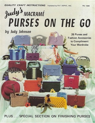 Judy's Macrame Purses On The Go