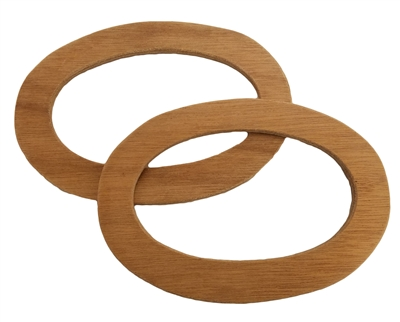 "6-3/4"" Unfinished Oval Wood Purse Handles"