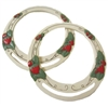 Adamsco Round Strawberry Purse Handles