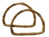 "7"" Pair D-Shaped Plastic Bamboo Purse Handles"
