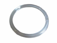 "3"" Clear Ribbed Plastic Ring"