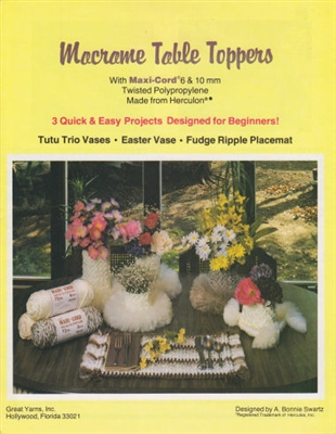 Macrame Table Toppers