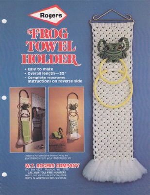 Frog Towel Holder