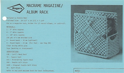 Macrame Magazine / Album Rack