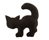 Black Cat Puffins Padded Satin Applique (10 pieces)