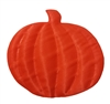Orange Pumpkin Puffins Padded Satin Applique (10 pieces)