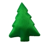 Green Christmas Tree Puffins Padded Satin Applique (10 pieces)