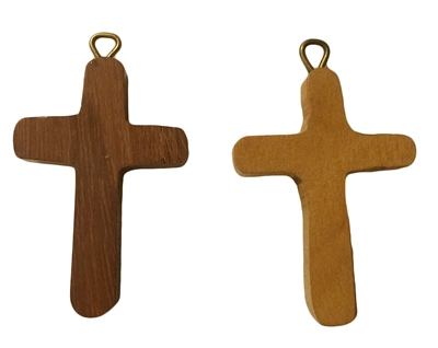 Small Wood Cross Pendant (Style 1), 12 ct Bag