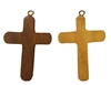 Large Wood Cross Pendant (Style 1), 12 ct Bag