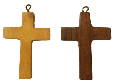 Large Wood Cross Pendant (Style 2), 12 ct Bag
