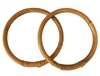 "5"" Round Pair of Natural Wrapped Rattan Purse Handles"