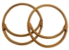 "7"" Pair of Double Round Natural Rattan Purse Handles"