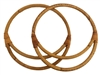"9"" Pair of Double Round Natural Rattan Purse Handles"