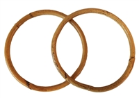 "4-3/4"" Round Pair of Natural Rattan Purse Handles"
