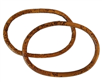 "5"" Pair of Oval Rattan Purse Handles"