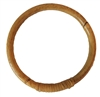 "5"" Round Natural Wrapped Rattan Ring"