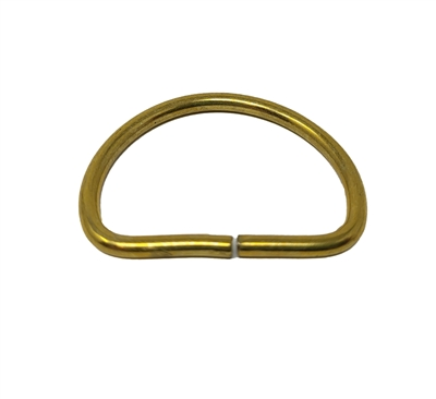 "1"" Brass Dee Ring, Unwelded"