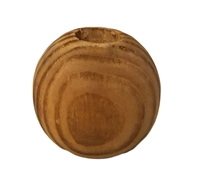 25MM Rustic Swirl Round Unfinished Wood Beads 4 ct. Bag