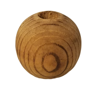 30MM Rustic Swirl Round Unfinished Wood Beads 4 ct. Bag