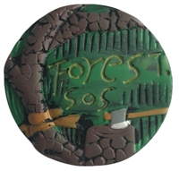 """Forest SOS"" Round Medallion Craft Accent"