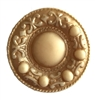 Ivory & Gold Grecian Round Medallion Craft Accent