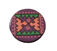 Southwestern Painted Resin Round Craft Accent, 4 ct Bag