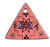 Pink Southwestern Triangle Painted Resin Pendant