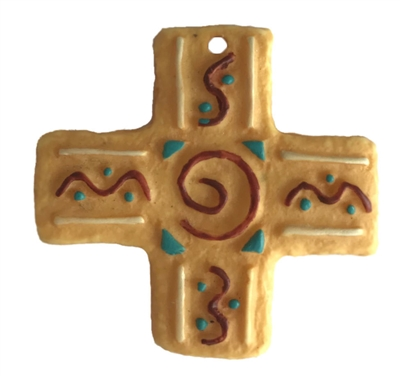 Small Resin Cross Western Jewelry Necklace Pendant