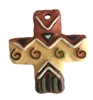 Large Resin Cross Western Jewelry Necklace Pendant