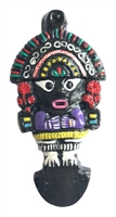 Tribal Totem Figurine Painted Resin Pendant