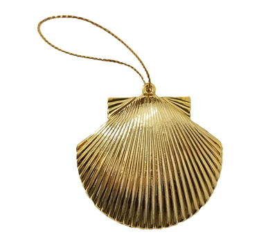 Gold Plastic Seashell Ornament