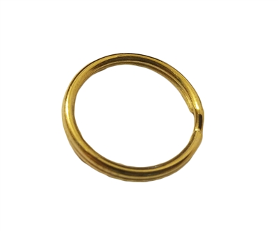 "3/4"" Gold Brass Plated Steel Split Key Rings, 12 ct Bag"