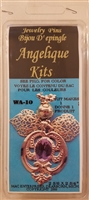 Angelique Kits Purple Gemstone Angel Beaded Jewelry Pin