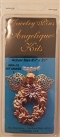 Angelique Kits Angel Wreath Beaded Jewelry Pin