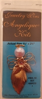 Angelique Kits Gold Angel Beaded Jewelry Pin