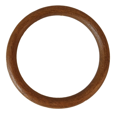 "4"" Wood Grain Plastic Ring"