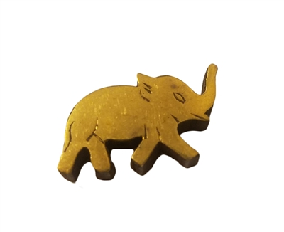25mm Gold Painted Wood Carved Elephant Shaped Beads, 4 ct. Bag