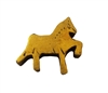 28mm Gold Painted Wood Carved Horse Pony Shaped Beads, 4 ct. Bag