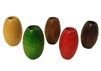 44MM X 28MM Oval Wood Beads 4ct Bag
