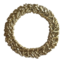 "3"" Wreath Ring Gold-Tone Plastic Craft Accent"